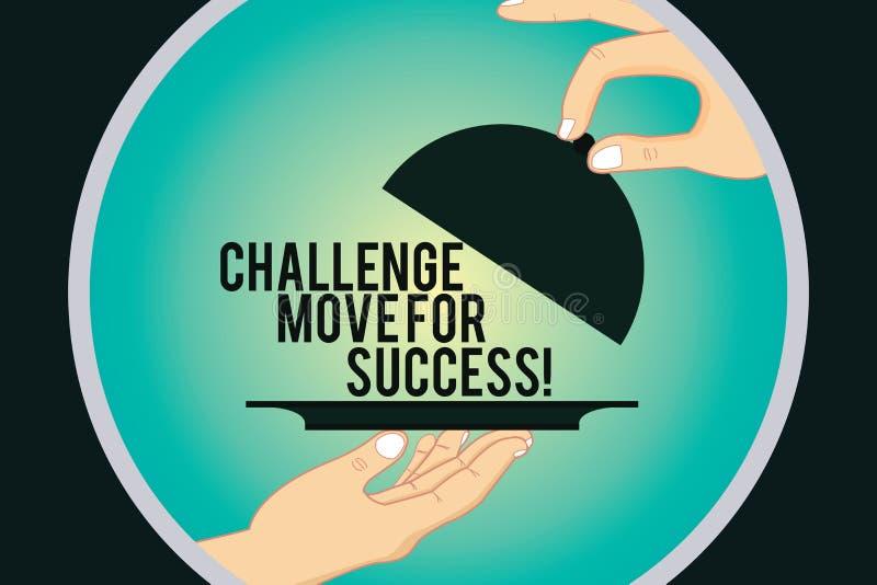写文本挑战移动的词为成功 专业运动战略的企业概念能继胡之后 皇族释放例证