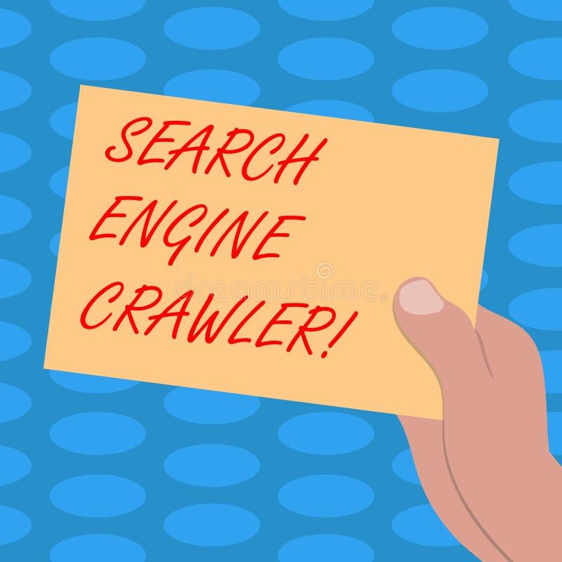 写文本搜索引擎履带牵引装置的词 节目或浏览网拉长的胡的自动化的剧本的企业概念 向量例证