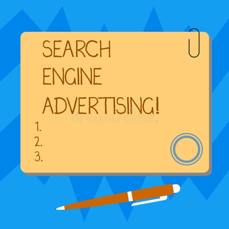 写文本搜索引擎广告的词 安置一种网上广告空白的方形的颜色方法的企业概念  皇族释放例证