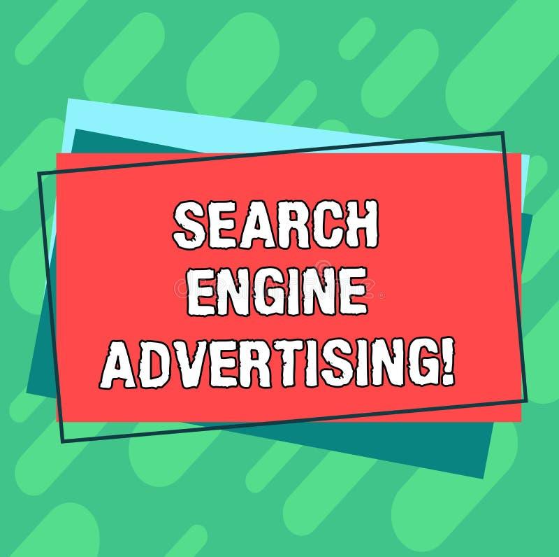 写文本搜索引擎广告的词 安置网上广告堆方法的企业概念空白 向量例证