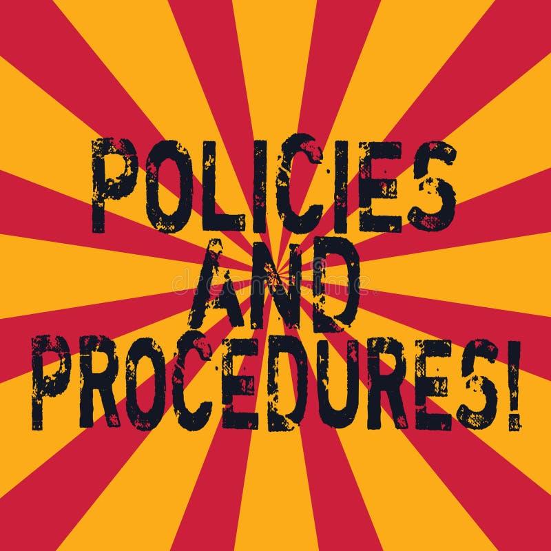 写文本政策和做法的词 规则组的企业概念任何组织创造的指南 皇族释放例证
