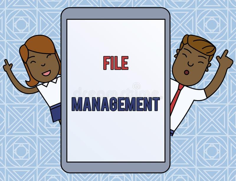 写文本文件管理的词 提供用户界面给analysisage的计算机程序的企业概念 库存例证