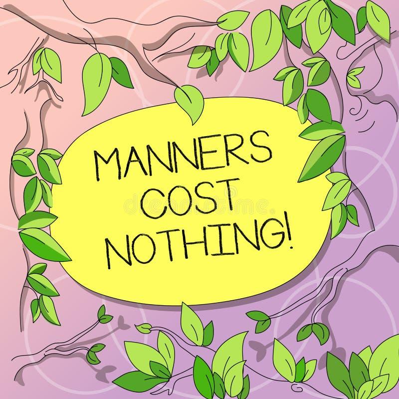 写文本方式的词什么都没有花费 没有费的企业概念在表达谢意或礼貌对其他树 皇族释放例证