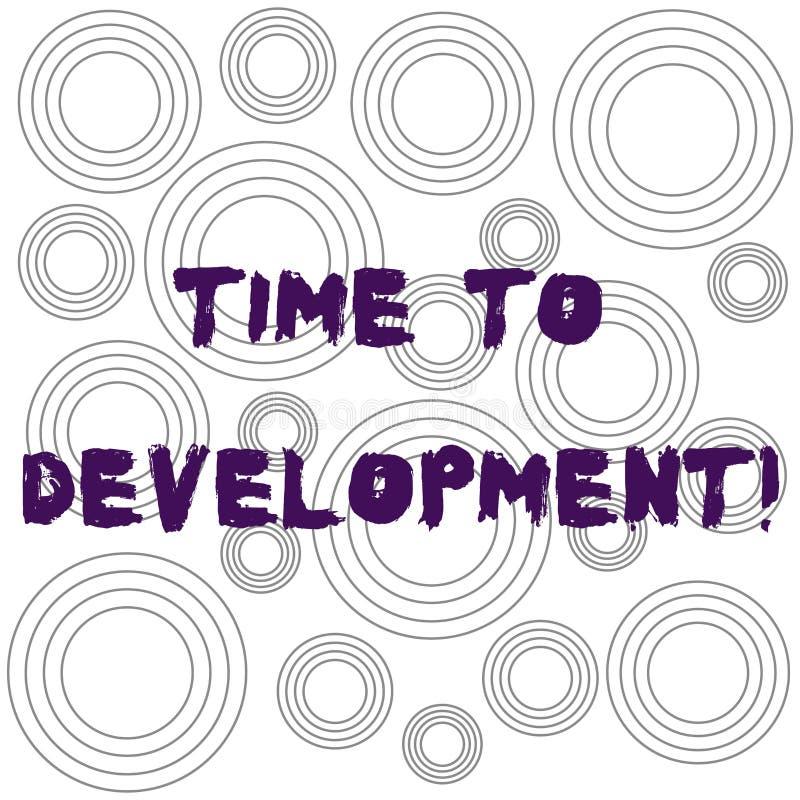 写文本时间的词给发展 时间的企业概念在哪家公司期间的增长改进多 向量例证