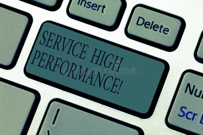 写文本服务高Perforanalysisce的词 资源正常运行时间的保证的处理的运用的企业概念 库存图片