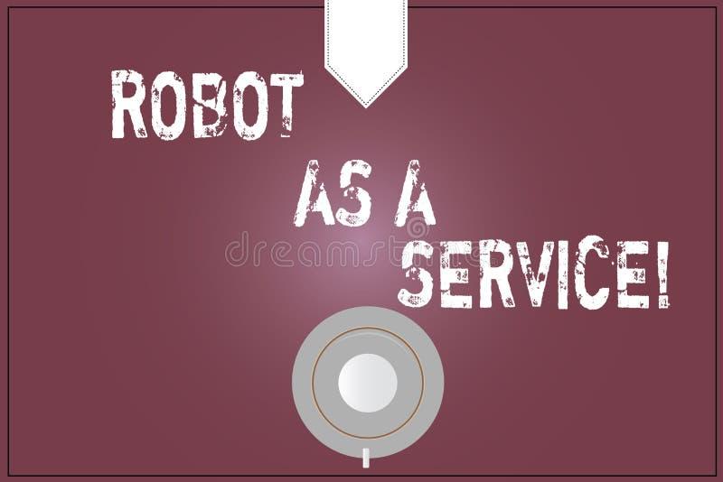写文本机器人的词作为服务 人工智能数字协助闲谈马胃蝇蛆咖啡的企业概念 向量例证