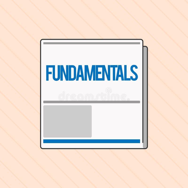 写文本根本性的词 某事的中央主要规则原则的企业概念 向量例证