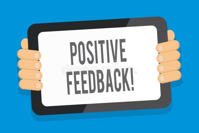 写文本正面反馈的词 来自满意的顾客颜色的好和巨大评论的企业概念 向量例证