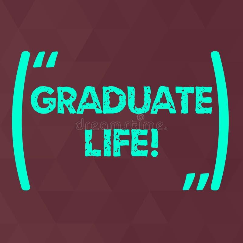 写文本毕业生生活的词 情况或状态的企业概念一展示在完成院以后 皇族释放例证