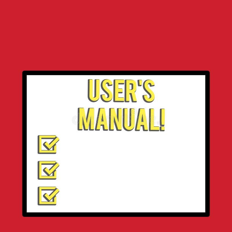 写文本用户S的词是手工的 Contains的企业概念产品大白色的所有根本信息 库存例证