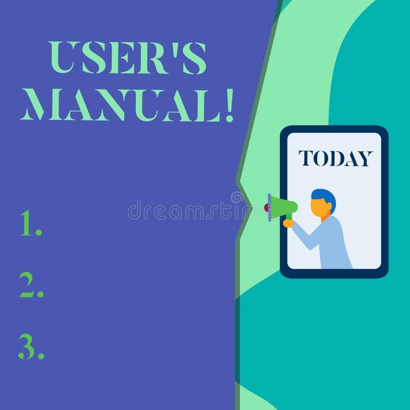 写文本用户S的词是手工的 Contains的企业概念全部产品的根本信息 向量例证