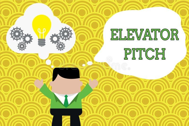 写文本电梯沥青的词 的企业概念令人信服的销售摊点简要的讲话关于产品身分 库存例证