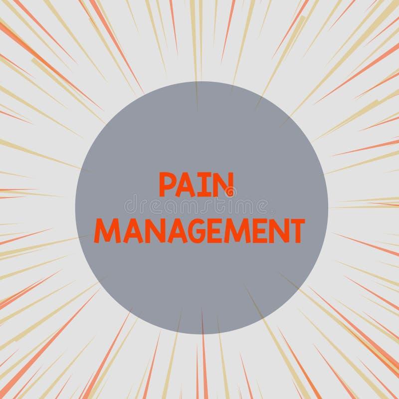 写文本痛苦管理的词 使用多学科互动的医学部门的企业概念 皇族释放例证
