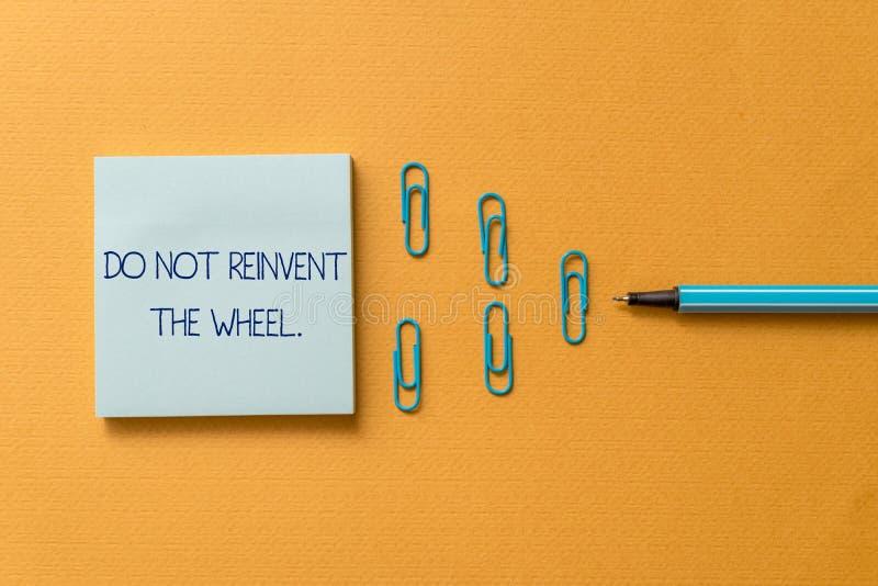 写文本的词不重创轮子 复制一个基本的方法的中止的企业概念以前完成 库存图片