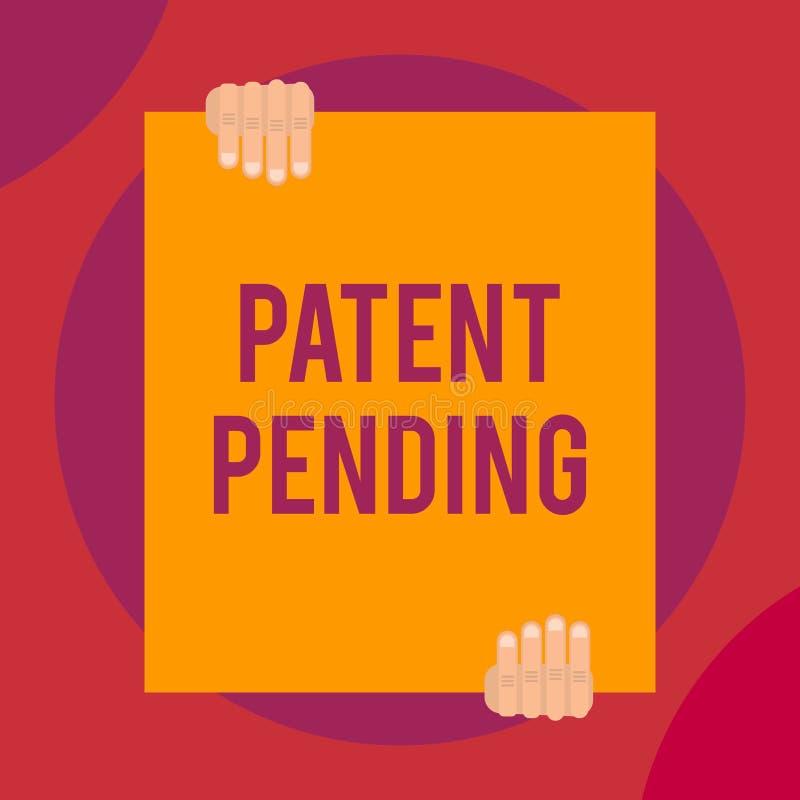 写文本的词专利审理 请求的企业概念已经归档了,但是不授予追求保护两 皇族释放例证
