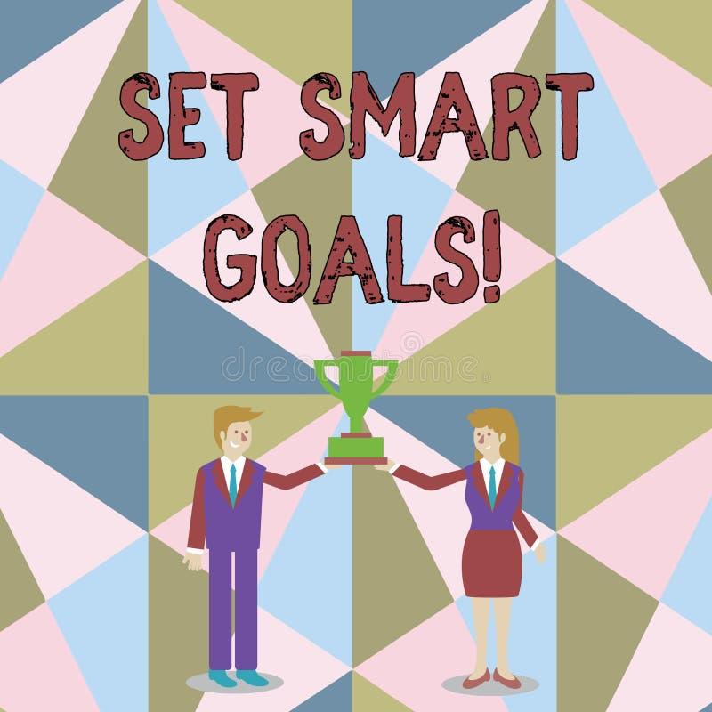 写文本的词制定了聪明的目标 名单的企业概念能澄清您的想法聚焦努力使用时间圣人和 库存例证