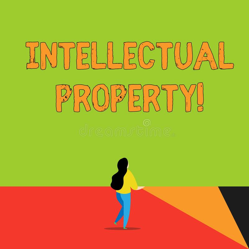 写文本知识产权的词 Protect的企业概念免受越权应用给予了专利工作或想法后面 向量例证