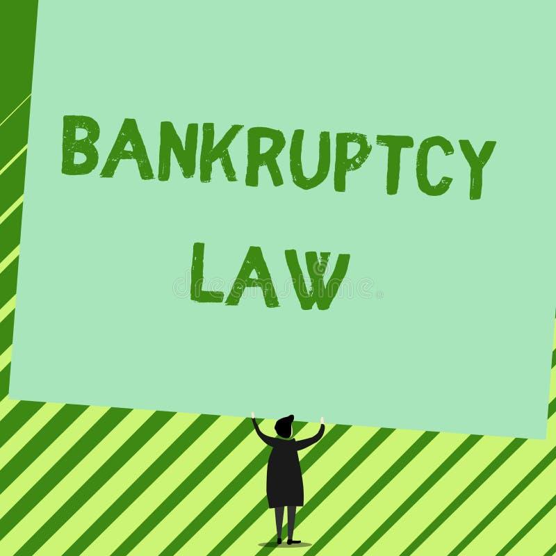 写文本破产法的词 设计的企业概念能帮助在得到债家人的财产的债权人 向量例证