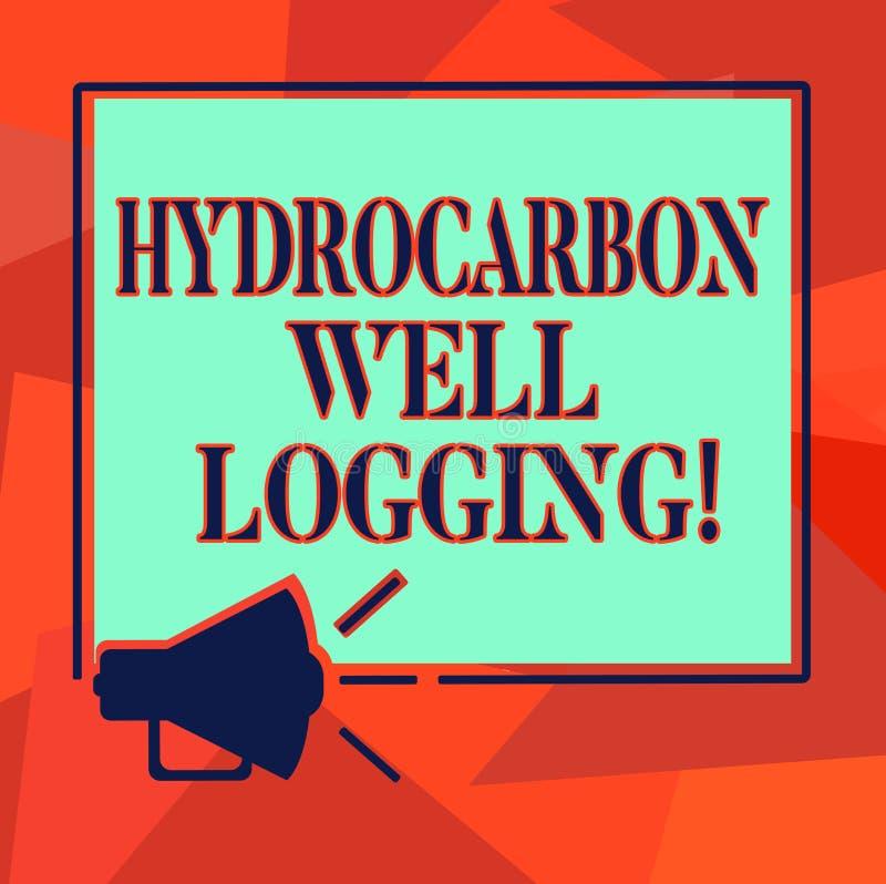 写文本碳氢化合物钻井测试的词 钻孔扩音机声音的地质结构的纪录的企业概念 库存例证