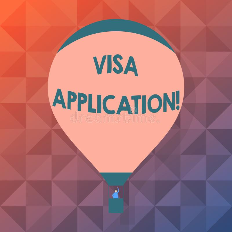 写文本签证申请的词 国家授予的有条件授权的企业概念外国人空白 皇族释放例证
