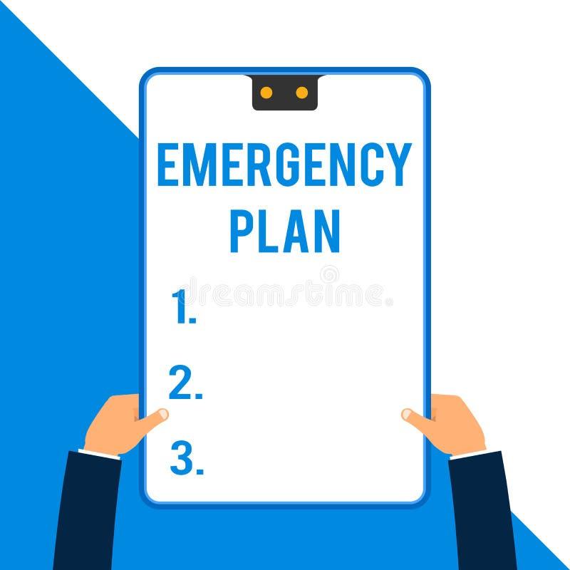 写文本紧急办法的词 做法的企业概念对主要的紧急事件的反应的准备两 皇族释放例证
