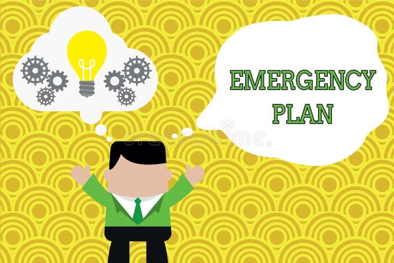 写文本紧急办法的词 做法的企业概念对主要的紧急事件的反应的是准备的站立 皇族释放例证