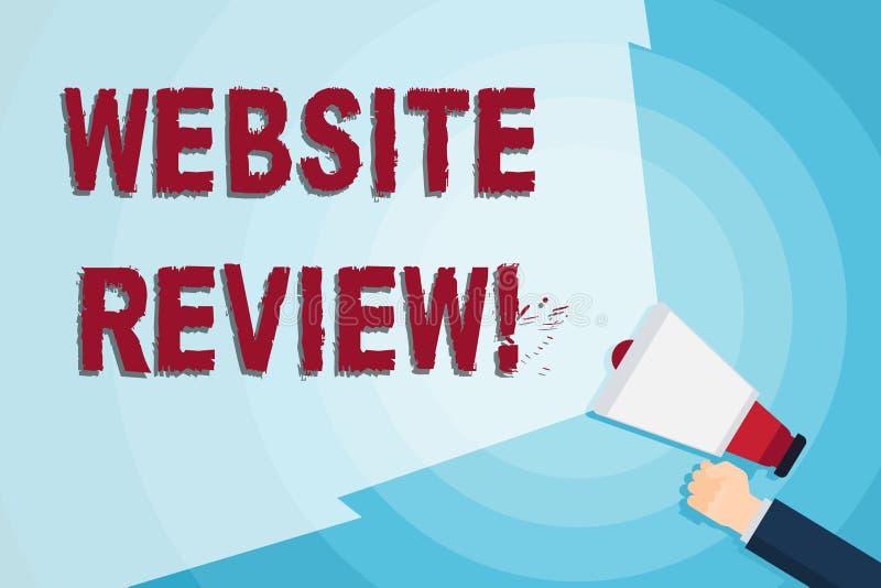 写文本网站回顾的词 对企业或服务的用户额定值和评估的企业概念 库存例证