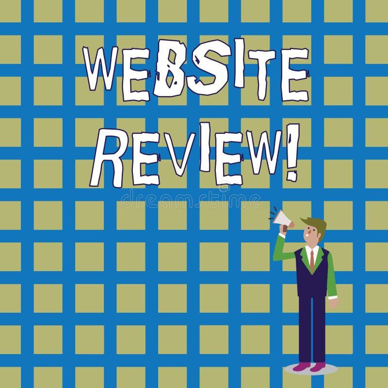 写文本网站回顾的词 对企业或服务的用户额定值和评估的企业概念 皇族释放例证