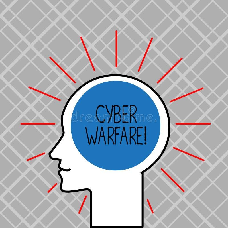 写文本网络战争的词 使用互联网的活动的企业概念攻击国家s是计算机 皇族释放例证