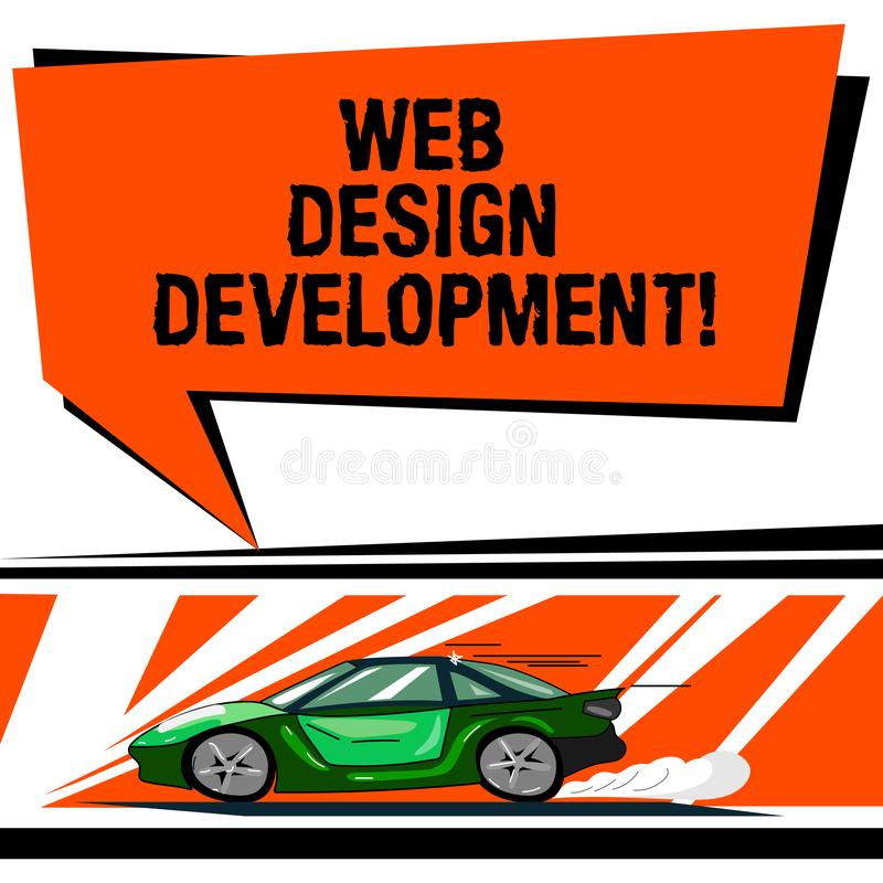 写文本网络设计发展的词 开发的网站的企业概念主持的通过内部网汽车与 皇族释放例证