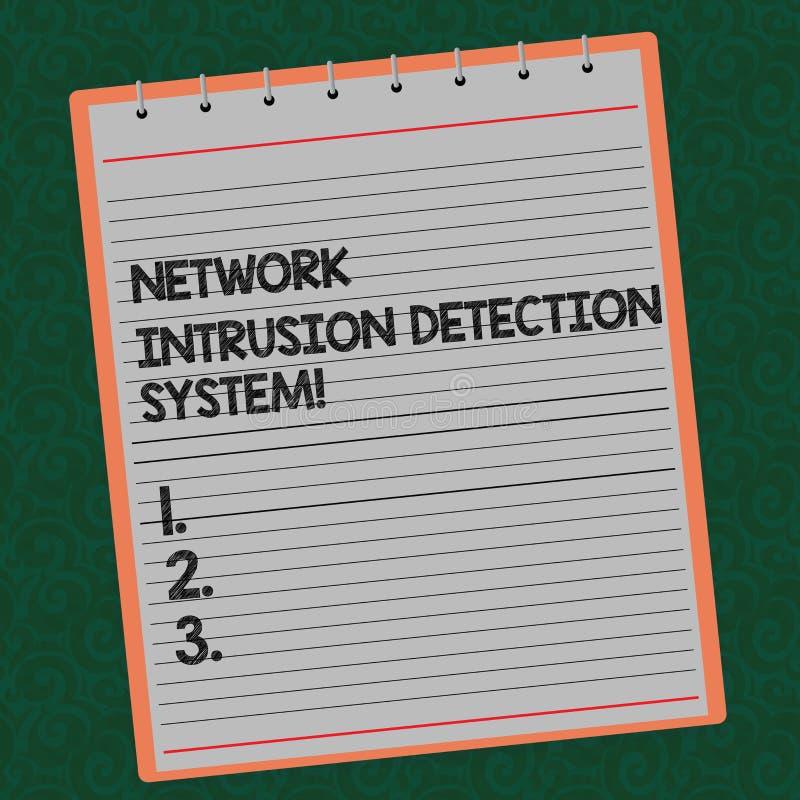 写文本网络闯入检测系统的词 安全安全多媒体系统的企业概念排行了 免版税图库摄影