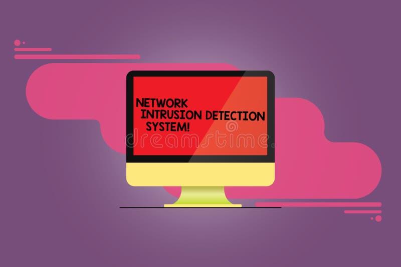写文本网络闯入检测系统的词 安全安全多媒体系统的企业概念登上了 库存例证