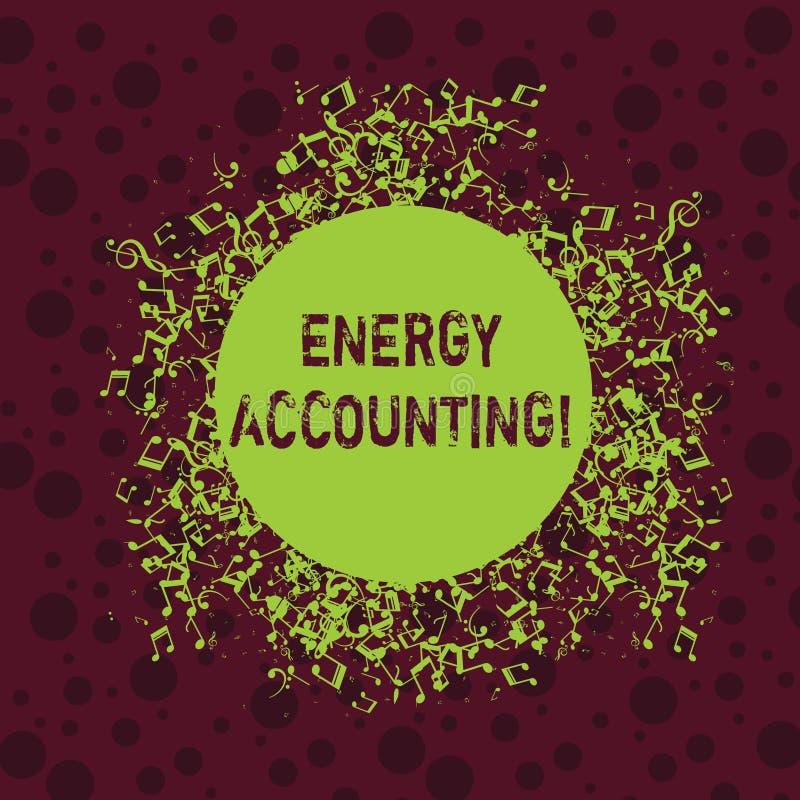 写文本能量会计的词 措施的企业概念和报告活动的能源消耗 库存例证