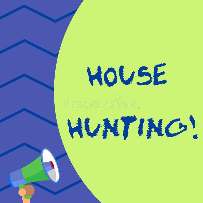写文本觅房行动的词 搜寻或寻找房子行动的企业概念买或租赁老 库存例证