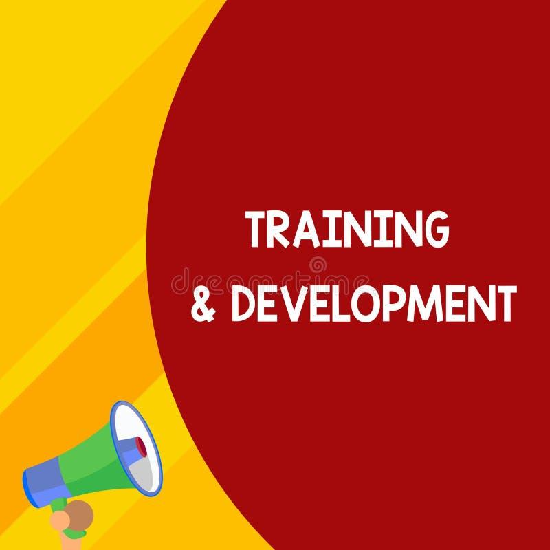 写文本训练和发展的词 学会的企业概念具体知识改进perforanalysisce 库存例证