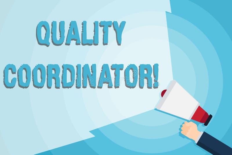 写文本质量协调员的词 显示器的企业概念和改进质量analysisufactured 向量例证