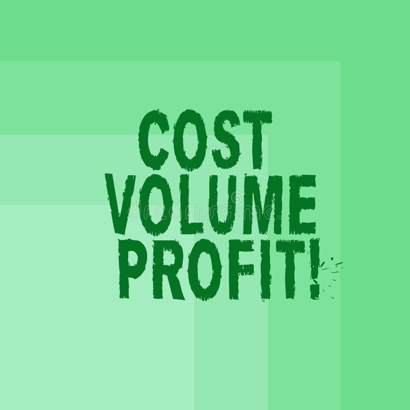 写文本费用容量赢利的词 形式的企业概念的成本会计和这是简化的模型空白 皇族释放例证