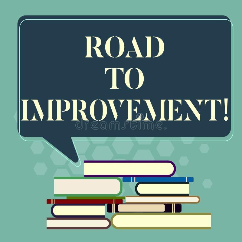 写文本路的词给改善 事做事更好或你自己参差不齐的方式的企业概念 库存例证