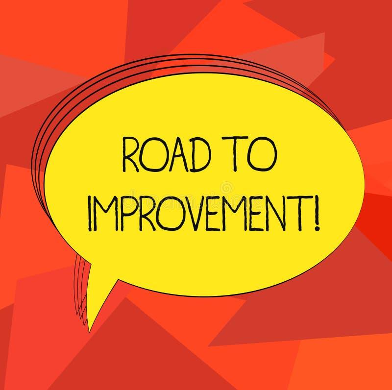 写文本路的词给改善 事做事更好或你自己空白的长圆形的方式的企业概念 皇族释放例证