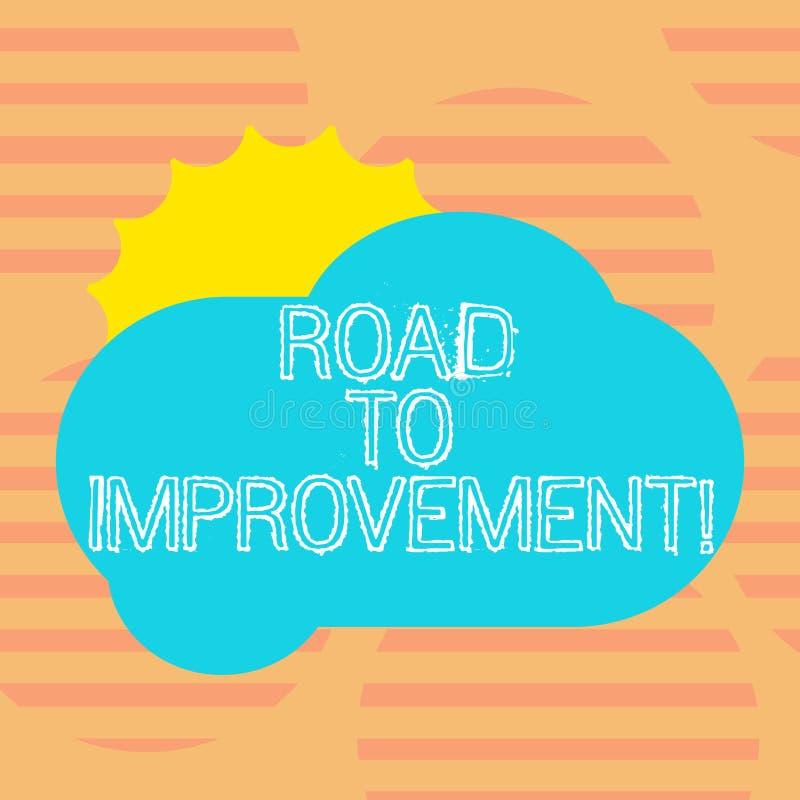 写文本路的词给改善 事做事更好或太阳掩藏的方式的企业概念 库存例证