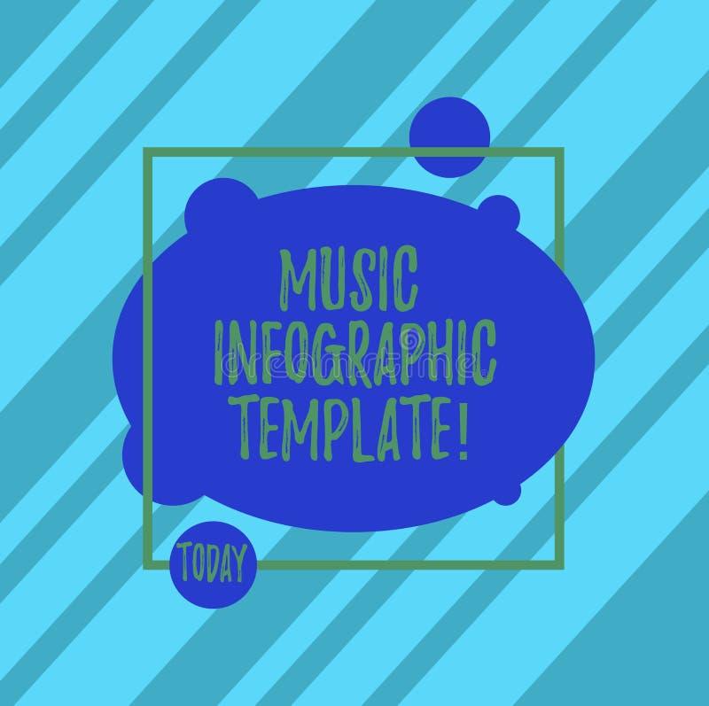写文本音乐Infographic模板的词 信息的表示法的企业概念以一个图表格式 向量例证
