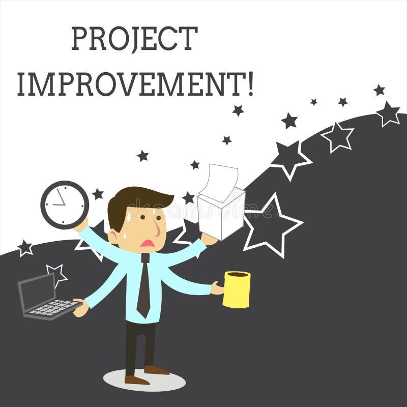 写文本项目改善的词 方法技术的企业概念能实现一个被定义的宗旨 皇族释放例证