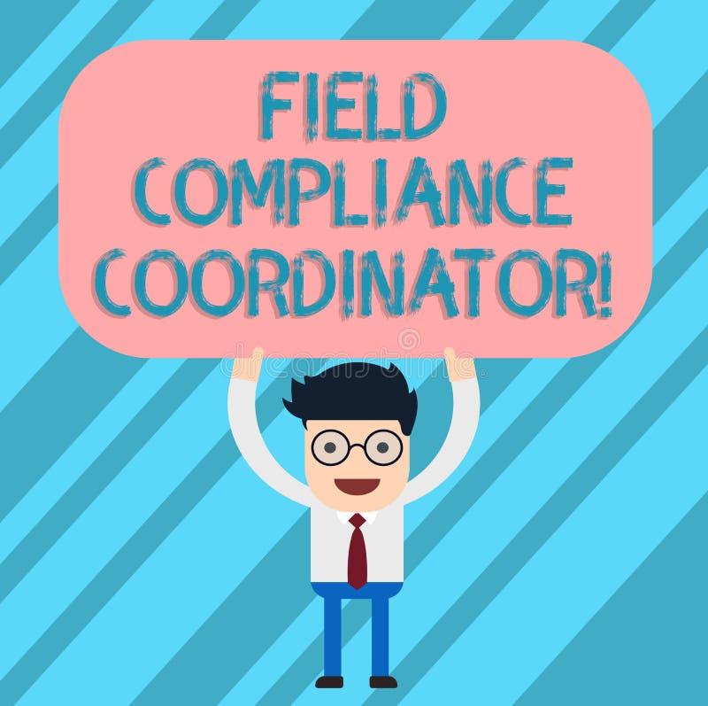 写文本领域服从协调员的词 协助的企业概念在管理文件人的准备 库存例证