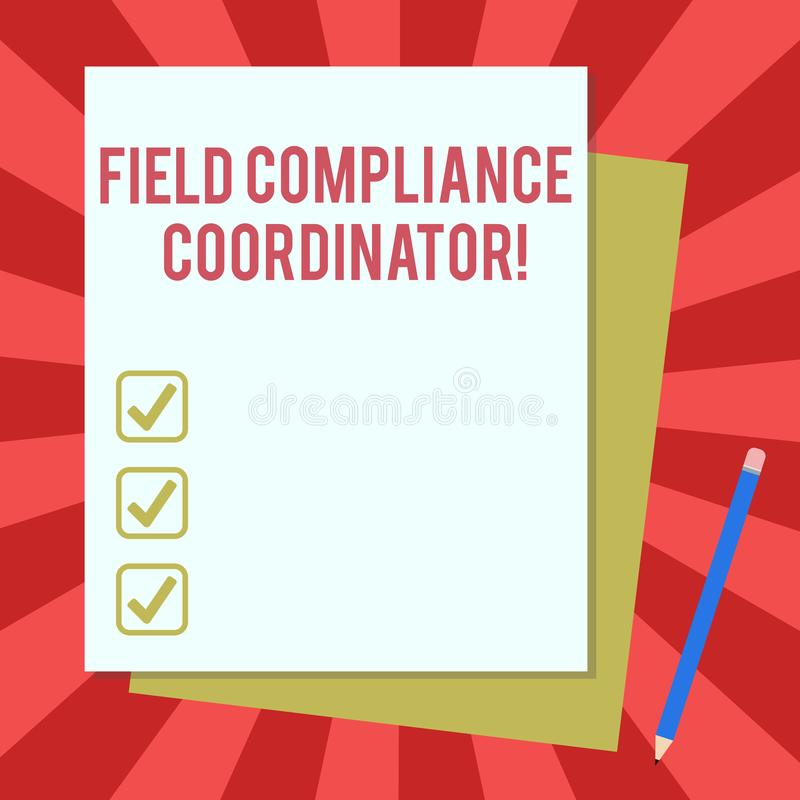 写文本领域服从协调员的词 协助的企业概念在管理文件堆的准备 皇族释放例证
