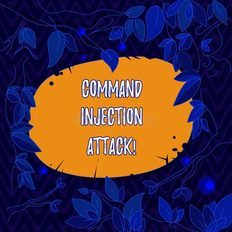 写文本Comanalysisd射入攻击的词 任意comanalysisds的施行的企业概念在主人的 库存例证