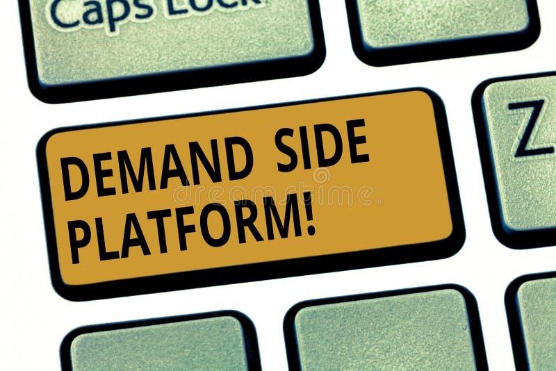 写文本Deanalysisd旁边平台的词 为纲领性广告购买使用的软件的企业概念 库存图片