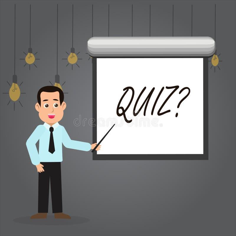 写文本Quizquestion的词 企业概念简称测试评估考试定量您的知识人 向量例证