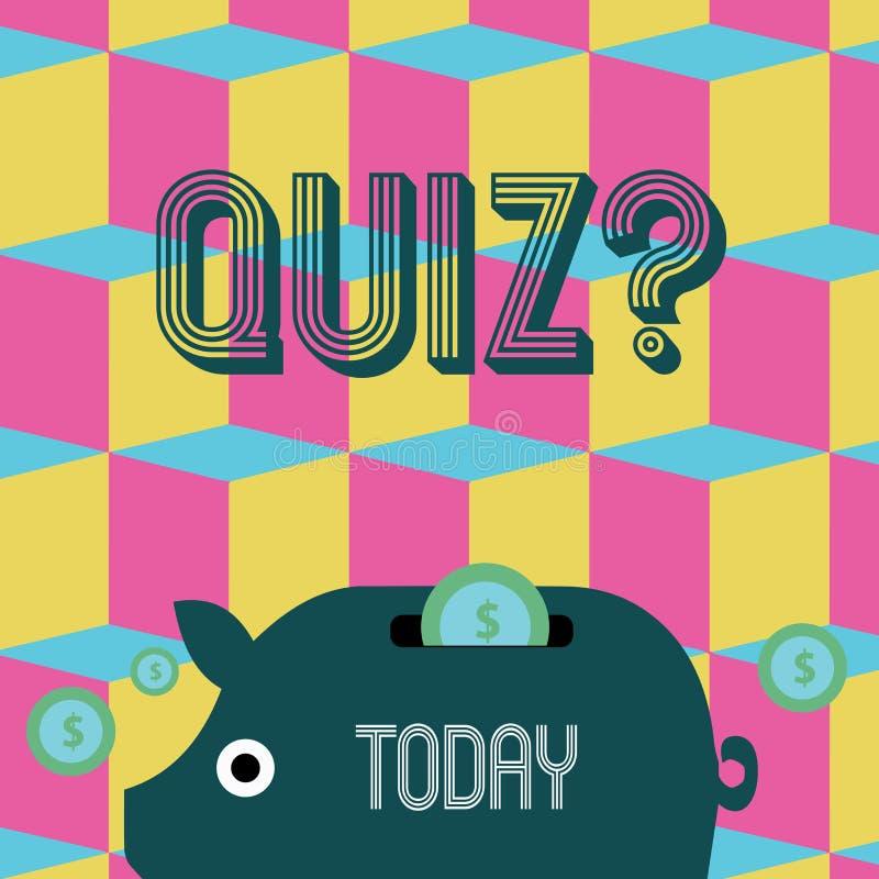 写文本Quizquestion的词 企业概念简称测试评估考试定量您的知识 库存例证