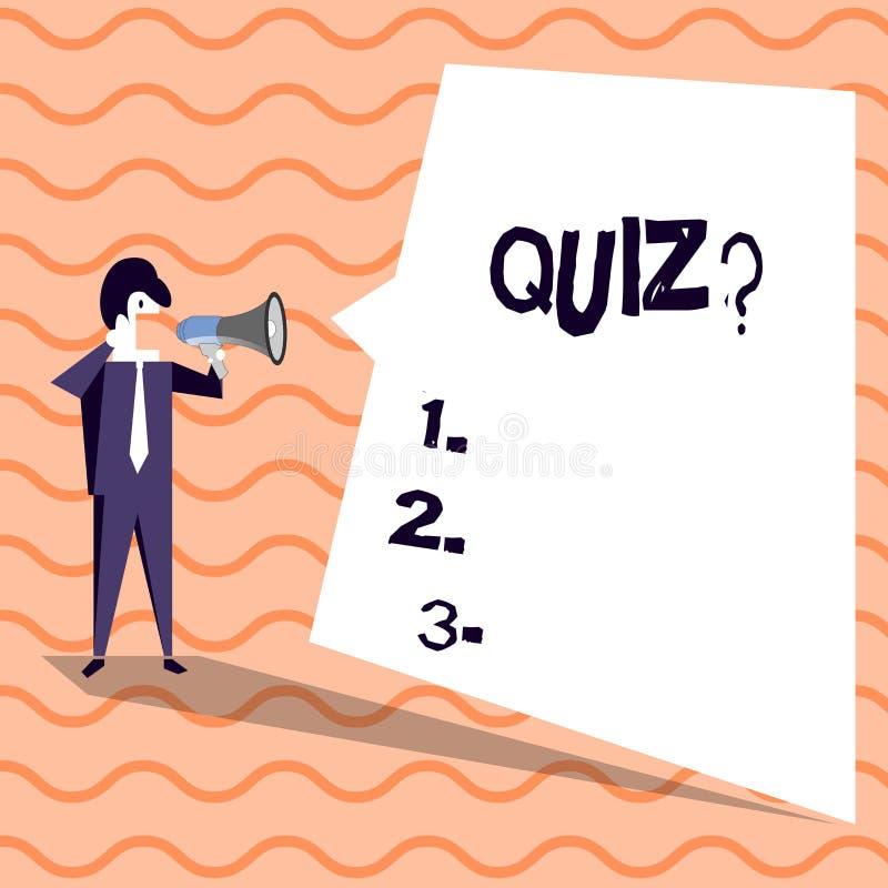 写文本Quizquestion的词 企业概念简称测试评估考试定量您的知识 皇族释放例证
