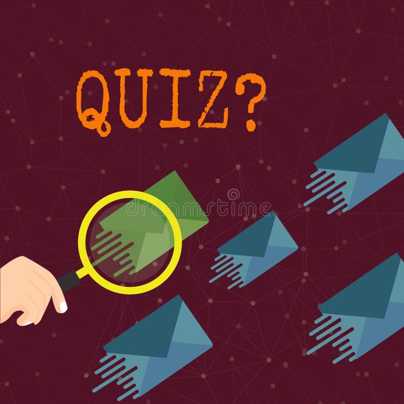 写文本Quizquestion的词 企业概念简称测试评估考试定量您的知识 向量例证